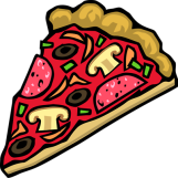 Illustration+of+a+slice+of+pizza+with+toppings